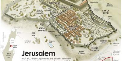 Jerusalim Mapu Mape Jerusalim Izrael